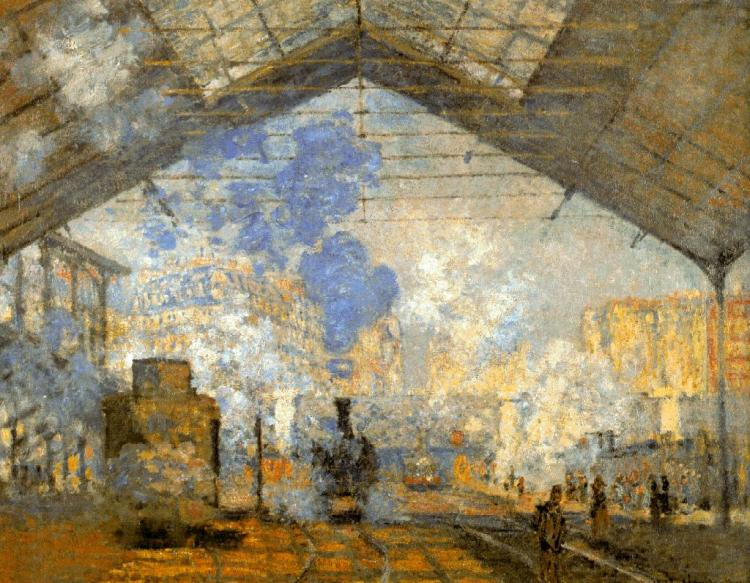 La estación de saint-lazare, claude monet